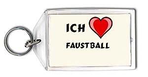 Schlüsselhalter mit Aufschrift Ich liebe Faustball (Sport)