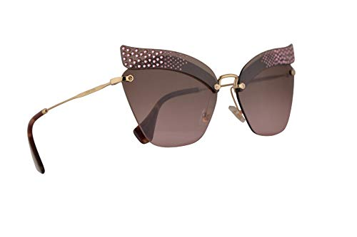 Miu Miu MU56TS Sunglasses Dark Pink Transparent w/Violet Gradient Brown 63mm Lens KI45P1 MU 56TS SMU 56TS SMU56T