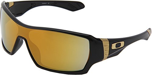 Oakley Offshoot OO9190-07 Iridium Sport Sunglasses,Polished Black,55 - White Polished Black Oakley Iridium