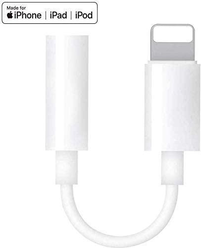Apple MFi Certified Lightning to 3.5mm Headphone Jack Adapter for iPhone Dongle Cables Dongle for iPhone 11//11 Pro//11 Pro Max//Xs//Xs Max//XR//8//8 Plus//X//7//7 Plus Calling /& Music Control iPad//iPod