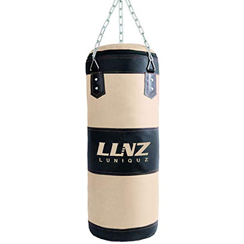 Luniquz Kids Punching Bag, Unfilled Hanging Boxing Bag with Mount Chain for Boys Girls