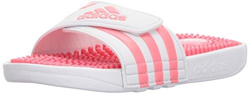 Price comparison product image adidas Girls' Adissage K, White/Chalk Pink/White, 4 M US Big Kid