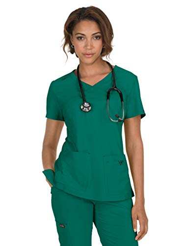 KOI Basics Multi-Pocket Ultra Comfort & Lightweight Katie Scrub Top for Women
