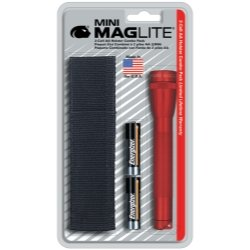 Mag Instrument (MAGM2A03H) Mini-Mag Red Flashlight Holster Kit 2 AA Cells