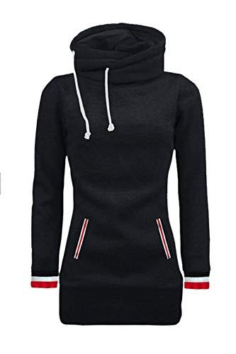 Mang Con Suéter Camisas Sudaderas Invierno Flojo Schwarz Mujeres 7w4Ar7