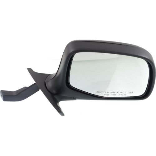 - Make Auto Parts Manufacturing - Right Side Rear View Mirror For Ford F-SERIES 92-97, Manual Folding, Chrome-Paddle Design, Black Textured Passenger Side Exterior Mirror FO1321152