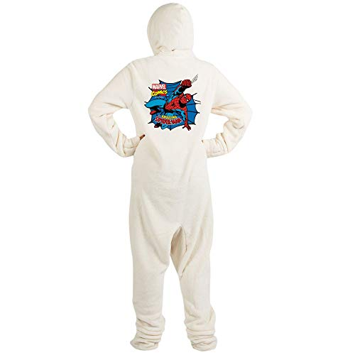 CafePress The Amazing Spiderman Novelty Footed Pajamas, Funny Adult One-Piece PJ Sleepwear -