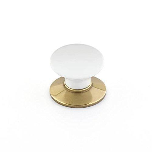 Emtek 86001US7 Ice White Porcelain 1.375-Inch Cab Knob