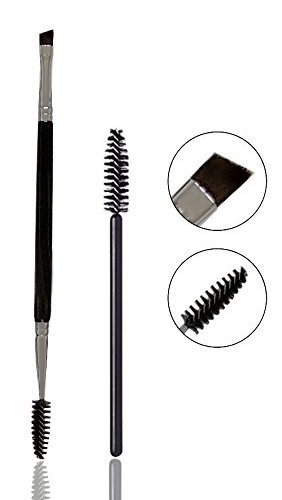 f1d7c0ae7f9 Amazon.com: Eyebrow Brush, Dual Precision Eyebrow Brush Double Ended Eye  Brow Spoolie Angled Brush: Beauty
