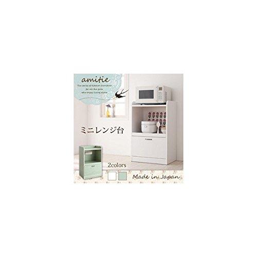 ミニキッチン収納シリーズ amitie アミティエ ミニ食器棚 ホワイト B00BJESZ3U ミニ食器棚|ホワイト ホワイト ミニ食器棚