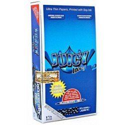 - 1 Box Juicy Jays Superfine 1 1/4 Rolling Papers - Blueberry Hill Flavored - 24 Packs / 1 Full Box