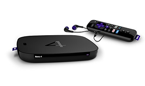 PC Hardware : Roku 4 | HD and 4K UHD Streaming Media Player with Enhanced Remote (Voice Search, Lost Remote Finder, and Headphone), Quad-Core Processor, Dual-Band Wi-Fi, Ethernet, and USB Port