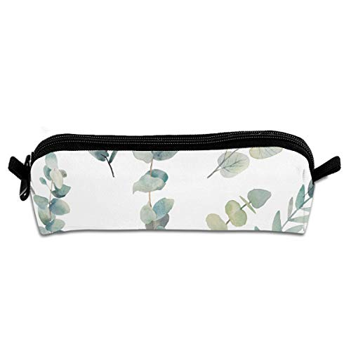Eucalyptus Leaves Pencil Case Pencil Holder Cosmetic Bags Makeup Bags Purse with Zipper