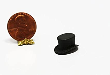 4ed9392b46b2a Image Unavailable. Image not available for. Color  Dollhouse Miniature  Black Top Hat