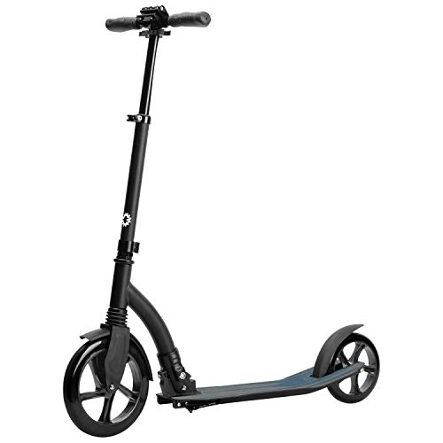 Jetson Midnight Folding Kick Scooter with Sturdy Wide Wheels, Easy Fold Mechanism, Lightweight and Portable, for Adults & Teens