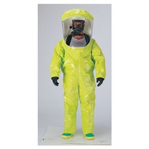 Dupont TK554TLYXL00015C Encapsulated Level A Suit, Expanded Back, Front Entry, TychemTK, X-Large