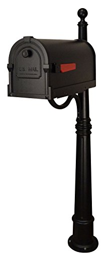 Savannah Curbside Mailbox with Ashland Mailbox Post Unit by Special Lite Products