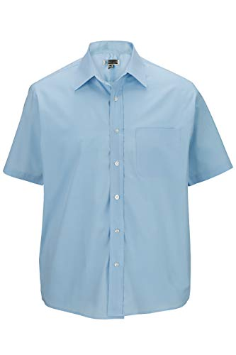 (Edwards Men's Short Sleeve Value Broadcloth Shirt 3XL Blue)
