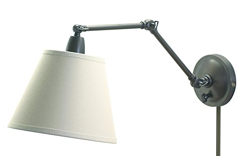 (House OF Troy PL20-OB Library Lamps Portable 20-Inch Wall Sconce Lamp, Oil Rubbed Bronze)