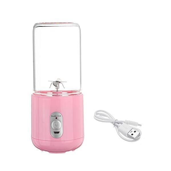 260ml portatile elettrico tazza di succo di miscelazione a sei lame USB frullati ricaricabili frullatori per alimenti… 3 spesavip