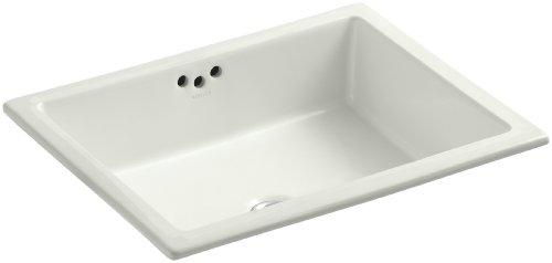 KOHLER K-2330-G-NY Kathryn Undercounter Bathroom Sink with Glazed Underside, Dune