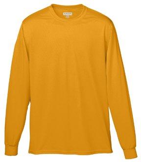 - Augusta Sportswear Men's Wicking Long Sleeve Tee Shirt, XL, Gold