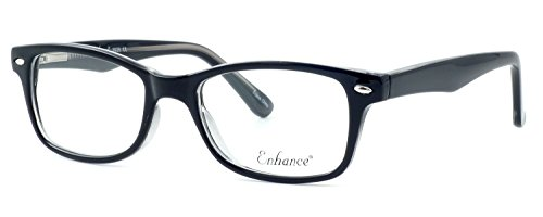 Enhance Optical Designer Eyewear  3926 Eyeglasses in Black-Crystal  DEMO LENS