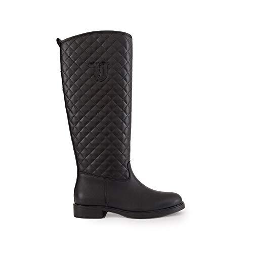With Boot Noir Classiques Heel Femme Jeans Tj Patch K299 Bottes nero Trussardi Low TI51vTq