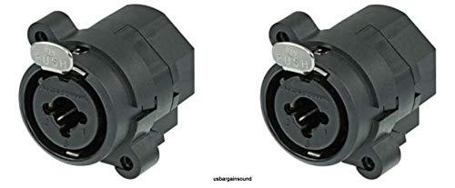 (2 Pack) Neutrik NCJ6FI-S Combo 3-Pin XLRF / 1/4 Inch Stereo with Solder Cups ((2 Pack) Neutrik NCJ6FI-S Combo 3-Pin XLRF / 1/4 Inch Stereo with Solder Cups)
