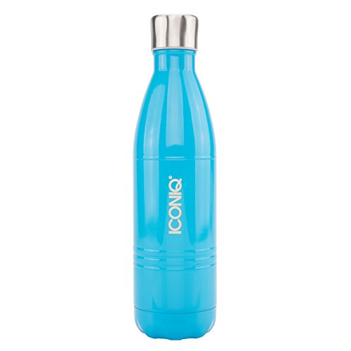 ICONIQ Stainless Steel Vacuum Insulated Water Bottle, 25 Ounce/800 ml (Gloss Blue)
