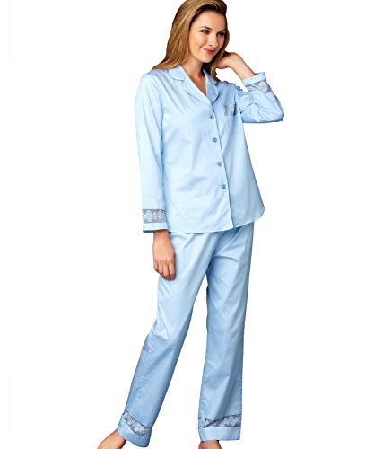 Julianna Rae Women's Pajama, 100% Cotton Sateen, Lace Trim, Petite, My New Favorite Collection, Dreamsicle, L