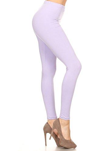Lavender Print - Leggings Depot Ultra Soft Basic Solid 36 COLORS Best Seller Leggings Pants Carry 1000+Print Designs(3X-5X,Lavender)
