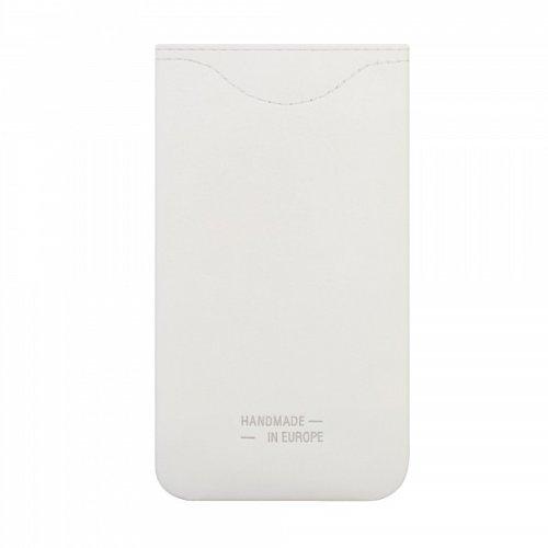 bugatti Skinny Ledertasche Größe 2ML in weiß/rot für z.B. Apple iPhone 8 / 7 / 6S, Samsung Galaxy A3 (2017) / Alpha / S5 mini [Echtleder | Handarbeit | Logoprägung | Sehr dünn] - 08649