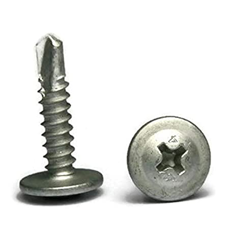 Phillips Modified Truss Head Self Drilling Lath Screws 410 Stainless Steel #8 x 1-5//8 inch Qty 100