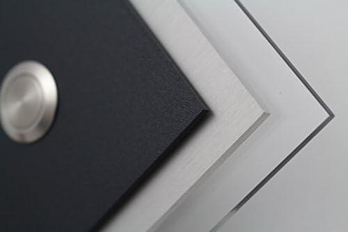 Bell plaque anthracite enduit de poudre S/érie Sonnette Carr/é Design Anthracite AlMgSi anodis/é Porte Sonnette sonnette sonnette sonnette de porte