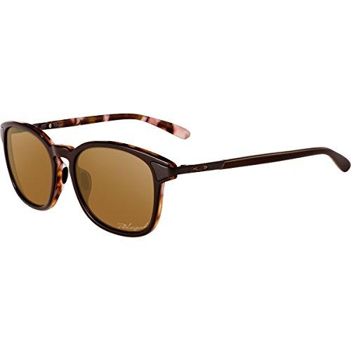 Oakley Women's Ringer Polarized Oval Sunglasses, Brown Mosaic, 54 mm
