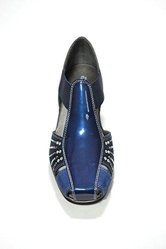 Melluso Scarpe sandali zeppa blu donna 08953