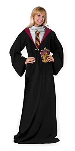 "Harry Potter Gryffindor Rules Adult Soft Throw Blanket with Sleeves, 48"" x 71"""