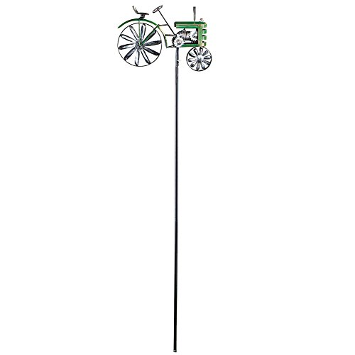 Farm Tractor Wind Spinner Garden Stake Country Lawn Ornament