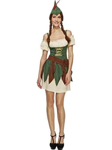 5 PC Outlaw Bandit Thief Lady Robin Hood Dress w/Accessories Party -