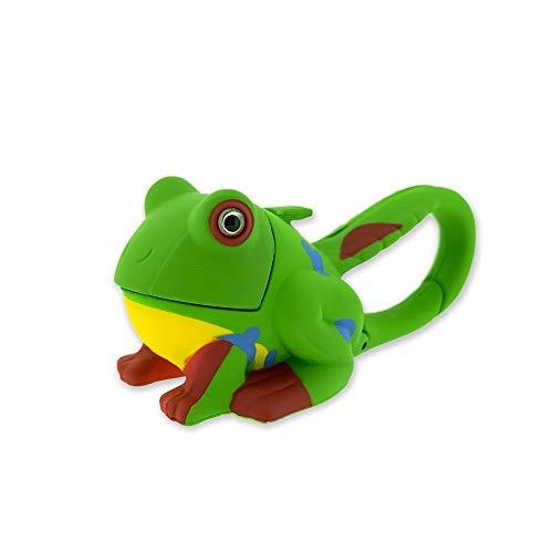 Sun Company Lifelight Animal Carabiner Flashlight - Green Frog   Mini Animal Keychain Flash Lights   for Kids, Nurses, Camping