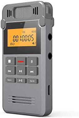 Grabadora de Voz Digital Portátil, COOAU 8GB Recargable Carcasa ...