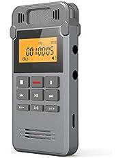 Grabadora de Voz Digital Portátil, COOAU 16GB Recargable Carcasa Metálica con Grabación de Micrófono Doble Clara, Clara Grabación, Activada por Voz, Conexión a PC, MP3, Memoria USB