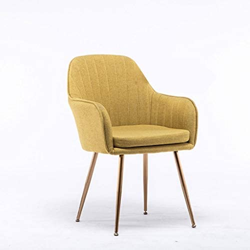 Sly Sedie da Soggiorno,Cotone e Lino Gambe in Legno Massello Camera da Letto Divano Balcone Lounge Side Chair Color : Coffee