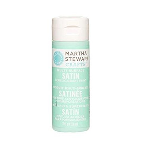 Martha Stewart Crafts MS320-12 Multi-Surface Satin Acrylic Craft Paint in Assorted Colors (2-Ounce), 32012 Beach Glass