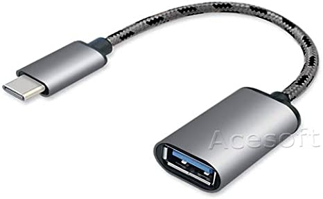 PRO OTG Cable Works for LG Escape Plus Right Angle Cable Connects You to Any Compatible USB Device with MicroUSB