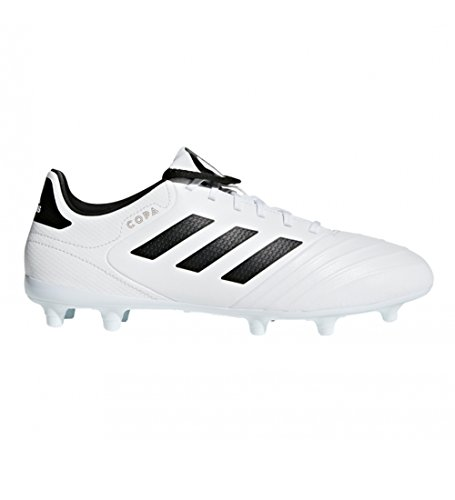adidas Men's Copa 18.3 FG Soccer Shoe, White/Core Black/Tactile Gold, 9.5 M US by adidas