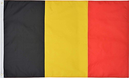 Green Grove Products Belgium 3' x 5' Ft 210D Nylon Premium Outdoor Embroidered Belgian Flag
