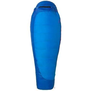 Marmot Women's Trestles 15 Long Synthetic Sleeping Bag, Long-Left, Blue