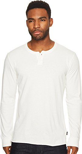 Brixton  Men's Redford II Long Sleeve Henley Off-White Shirt
